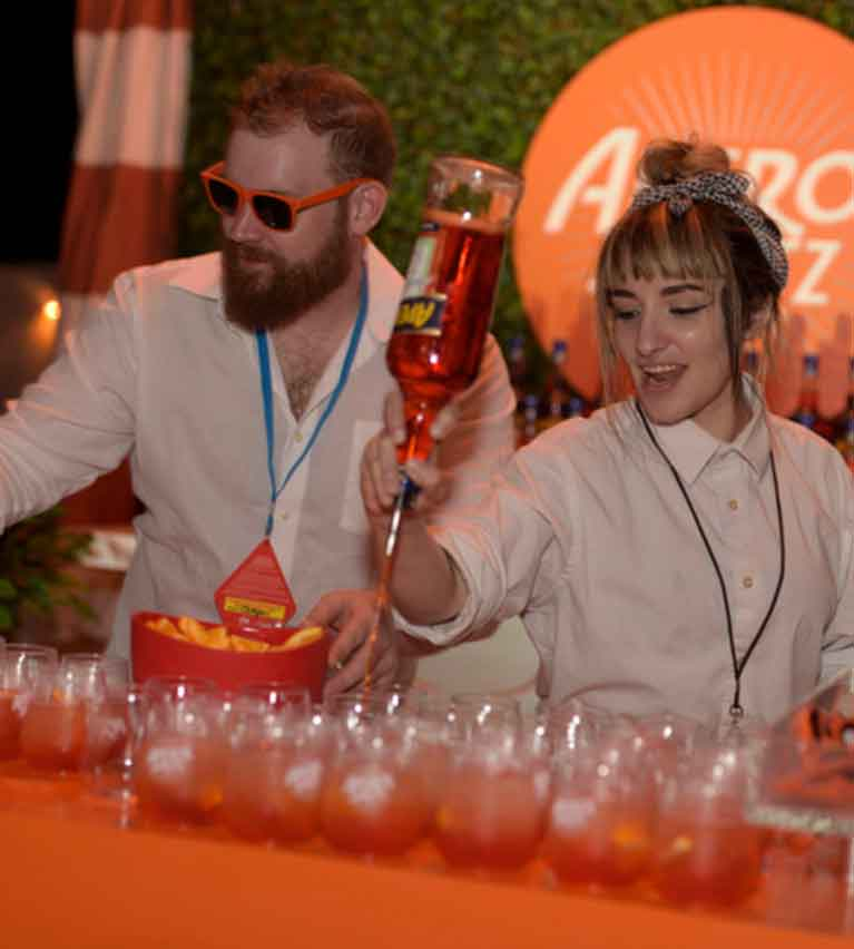 Aperol38 Spritz Aperol38 Spritz at BarillaÕs Italian Bites on the Beach sponsored by HCP Media and the Miami Herald Media Company hosted by Giada De Laurentiis - 2018 Food Network & Cooking Channel South Beach Wine & Food Festival at Beachside at Delano on February 22, 2018 in Miami Beach, Florida -PHOTO by: Seth Browarnik/WorldRedEye.com